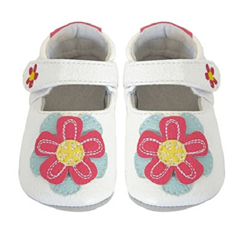 Jack and Lily Baby Shoes Pop Flower White for sale  Delivered anywhere in UK
