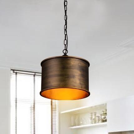 TYDXSD Vento vintage industriale nordico sala creativo impostare Lampadario in bronzo antico-argento camera da letto magazzino ferro battuto 350 * 300mm