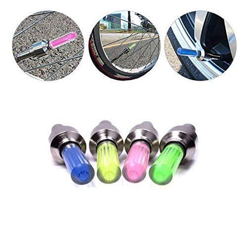 Gwill 5 stücke LED Neon Ventil Staubkappe Licht Auto Motorrad Fahrrad Rad Reifen Lampe