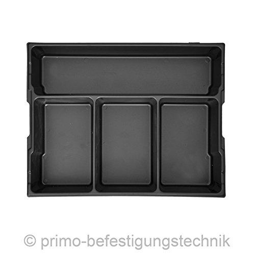 4fach Einsatz für Werkzeugkoffer L-Boxxen Koffer Größe 2