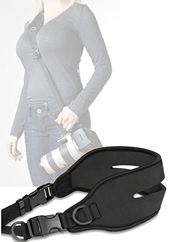 Tracolla per fotocamera reflex Baxxtar TWIN PADDY quick strap con distribuzione della pressione ottimale (di riferimento)