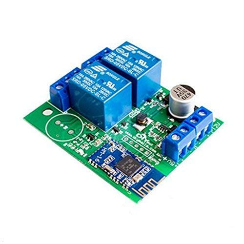 UIOTEC BLE Bluetooth Phone Bluetooth Wireless Remote Control to Open The Door Switch 2-Way Relay Module ZL-RC02 Wireless Remote Control Module Relay