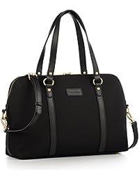 CHICECO Satchel Handtasche Damen Umhängetasche Messenger Bag für 13 Zoll Laptop Dateien Bücher