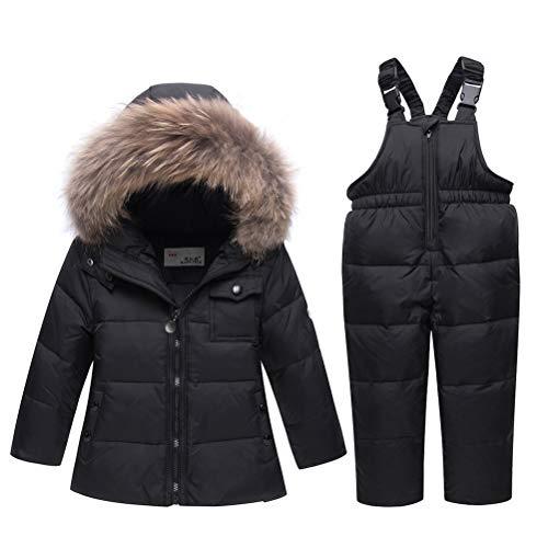 bf4ff8edc506f5 ARAUS Snowsuit da Unisex Bambini Tuta da Sci Piumino Trapuntato + Salopette  2 Pezzi Tutone Inverno