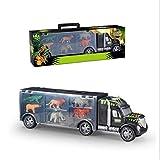 Tiertransportautotransport-LKW-Spielzeug, Spielzeug-LKWas, Tiertransporter für 3-12 jährige Jungen und Mädchen (Löwe, Krokodil, Nashorn, Elefant, Bär, Tiger) - 6 Tierspielwaren