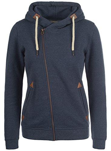 DESIRES Vicky Zip-Hood Sweatjacke, Größe:M;Farbe:Insignia Blue Melange (8991) (Hoody Zip Jacke Fleece)