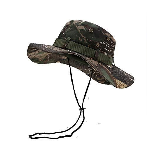GONGFF Classic Jungle Hat Sonnenhut Herren Damen Baumwolle Ripstop Camouflage Bucket Hat 56 58cm 5Beach Hats Wide Brim Floppy Packable Adjustable Packable Bucket