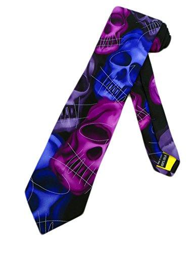 Jerry Garcia Herren Krawatte mit Totenkopf-Motiv, Einheitsgröße, Violett