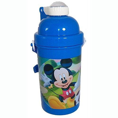 Mickey Maus Pop Up Flasche, 500ml, blau -