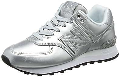 New Balance Sneaker Donna, Grigio (Metallic Silver/Grey Wl574nri), 36 EU