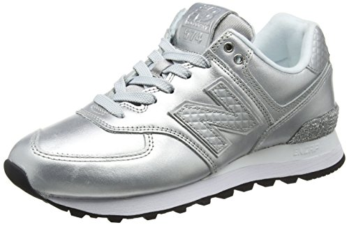New Balance School Old (New Balance Damen Wl574nri Sneaker, Grau (Metallic Silver/Grey Wl574nri), 39 EU)