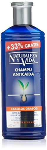 41nQiQg495L - Naturaleza Y Vida Champú Anticaída Cabello Graso - 100 ml