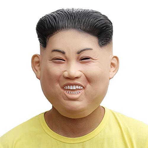 + PartyCostume Deluxe Novità Halloween Costume Festa Latex Uomo Testa Maschera Kim Jong prezzo