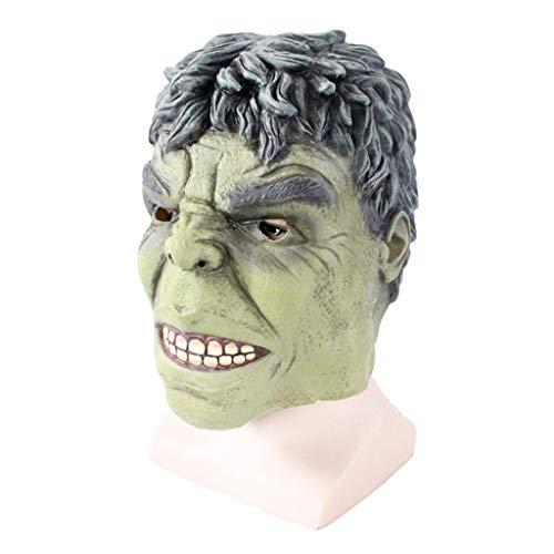 QWEASZER The Incredible Hulk, Deluxe Hulk-Maske für Erwachsene, Marvel Avengers-Masken, Halloween-Kostüm-Cosplay-Maskerade-Weihnachtspartys,Hulk-0cm~63cm