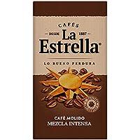 La Estrella Café Molido de tueste natural (50%) y torrefacto (50%) - Paquete de 8 x de 250 g - Total: 2 kg