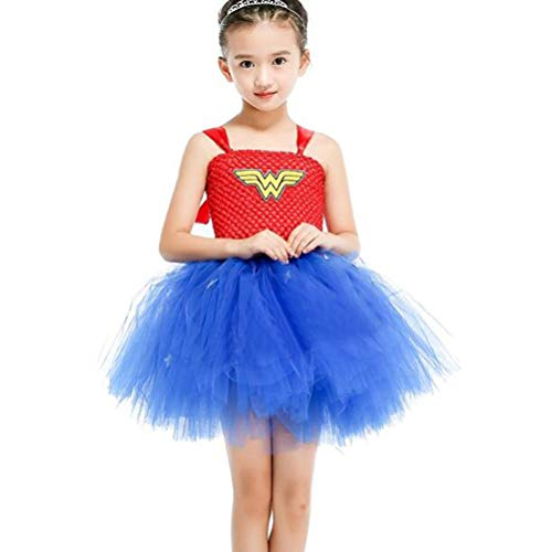 Wonder Woman Costumes Child Cosplay Children's Clothes Superman Spiel Anime Dress Party Party Cospaly ()