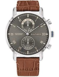 Tommy Hilfiger Herren Analog Quarz Uhr mit Leder Armband 1710398