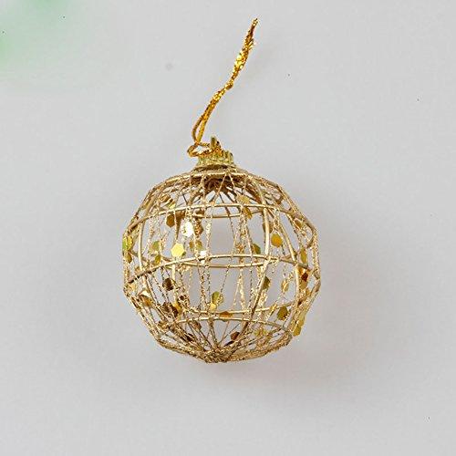 hten Weihnachtsbaum Gold Ball Baubles Hängende Partei Ornament Dekoration Anhänger (Der Alptraum Vor Weihnachten Dekorationen)