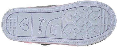 Skechers Shuffles Play Dates, Mädchen Sneakers Schwarz (Bkpk)