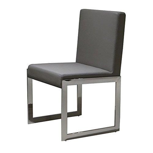 designement Ava Chaise Design Acier Inoxydable Gris Foncé 48 x 56 x 85 cm