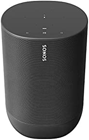 Sonos MOVE1UK1BLK Move - the durable, battery-powered smart speaker for outdoor and indoor listening