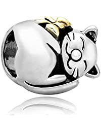 Uniqueen Couple Penguin Animal Charms Beads Fit Charm Bracelets