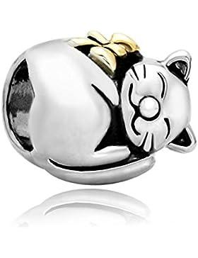 Uniqueen Katzen-Armbandanhänger, passend für Pandora-/Chamilia-Armbänder, geeignet als Geschenk