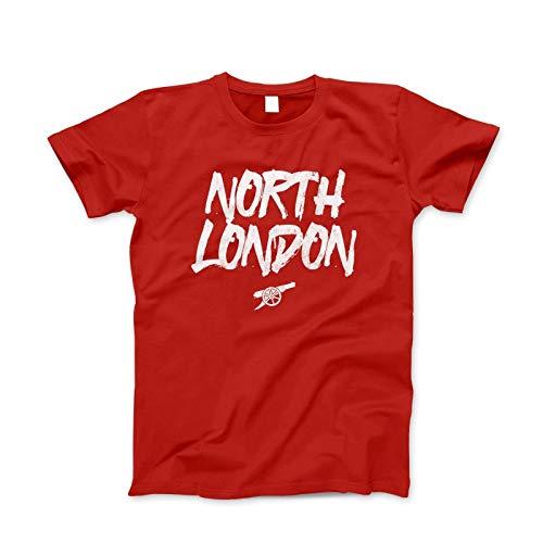 a494cb91b60 Arsenal North London Gunners Football Soccer Jersey T Shirt Mens Cotton Tee  Shirt Fashion Casual Tops