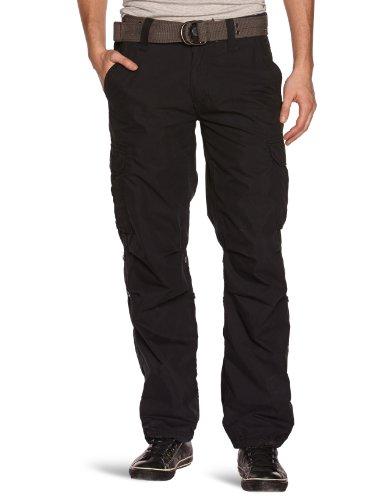 Schott Nyc - Pantalone da uomo, nero(schwarz - schwarz), 46/48 it (33w/26l