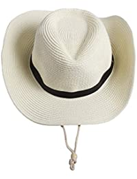 Saoye Fashion Cappello da Cowboy Occidentale da Uomo Cappello da Cowboy da  Facile Donna Cappellino da Spiaggia Cappuccio da Chiesa A Tesa… 1cf9b8b617b1