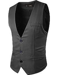 Sportides Uomo Waistcoat Gilet Business Leisure Gentleman Vest Suits Blazer  JZA005 e181267a937