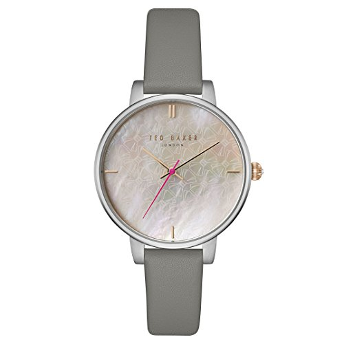 Ladies Womens Stainless Steel Ted Baker London Watch on Leather Strap with mother of Pearl Dial. TE15162002
