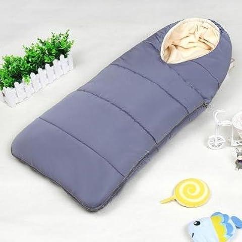 Saco de dormir bebe sleeping bag baby Otoño y el invierno espesan el dormir del bebé recién nacido suministros niño recién nacido está llevando a cabo contra las mantas Tipi al bebé recién nacido , silver