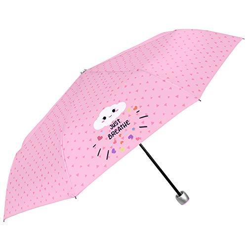 Paraguas Plegable Mujer Chica Rosa Frases Divertidos