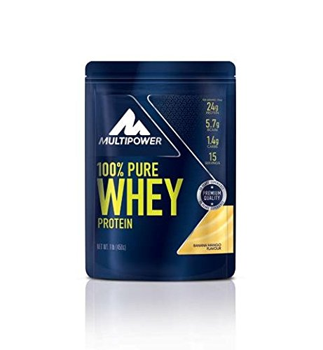 Multipower - 100 % Pure Whey 450 g Banana Mango 2er Pack...