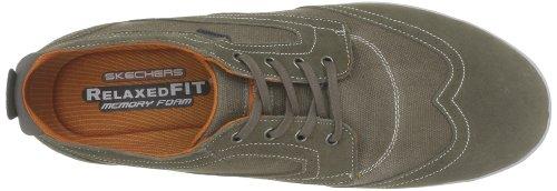 Skechers Diamondback-Pazen, Chaussures à lacets homme Vert (Olor)