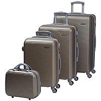 تشاليش حقائب سفر بعجلات للجنسين 4 قطع ، رمادي