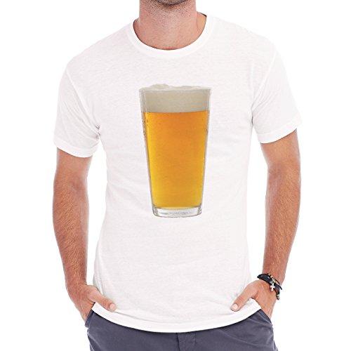 Beer Drink Oktoberfest Glass Pint Herren T-Shirt Weiß