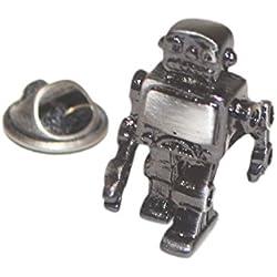 Pin de Solapa Robot Metálico acero Negro