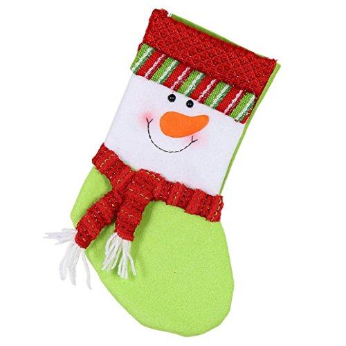 AMUSTER Mode Borsa Del Regalo Di Natale Babbo Natale Pupazzo Di Neve Elk Decorazione Di Natale Ornamento Decori Del Calzino 32*19.5Cm (B)