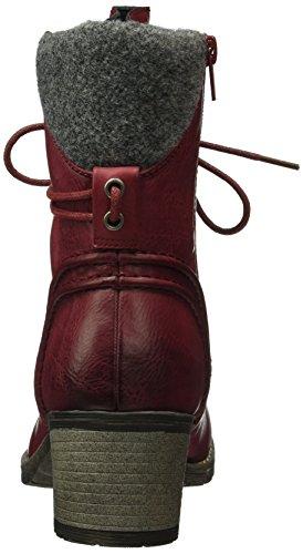 Rieker 92544, Bottes Classiques Femme Rouge (Wine/Granit/35)