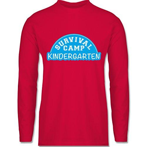 Shirtracer Sonstige Berufe - Survival Camp Kindergarten - Herren  Langarmshirt Rot