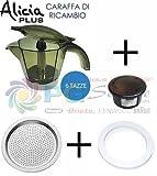 Kaffeekanne für Kaffeemaschine Alicia Plus von De'Longhi, 6Tassen, EMKP 63.B 7313285599, Original-Ersatzteil