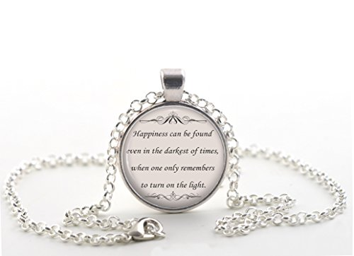 Image of Harry Potter Quote Necklace, Book Lover Pendant, Inspirational Jewellery Gift for Women