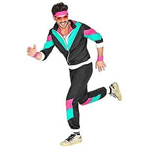WIDMANN 10164 - Chándal para hombre (talla XL), color negro, turquesa y rosa