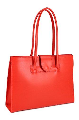 "Belli® ""design Bag C Elegante borsa in pelle–Libera scelta–�?0x 30x 10cm (B x H x T) Rot"