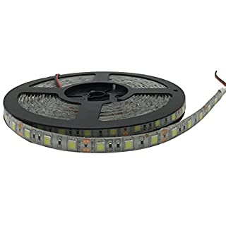 YXH® 5m LED strip 5050 lights 12V Decoration strip 16.4ft Store Kitchen light Home Christmas Indoor Outdoor Lighting Waterproof Flexible ( white 6000 K)