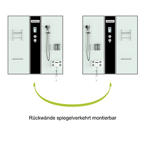 TroniTechnik Dampfdusche Duschtempel Whirlpool Badewanne Komplettdusche Duschkabine Dusche 170x90 schwarz - 3