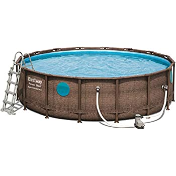 Berühmt Bestway Power Steel Swim Vista Deluxe Frame Pool rund mit stabilem XG64