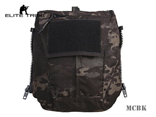 Jagd Combat MOLLE Rucksack Zip-On Panel – für Weste AVS jpc2.0 CPC Multicam Black